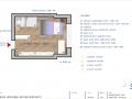 Půdorys s rozmístěním nábytku-Varianta-Minimal